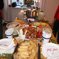Food brought to the IFG Christas party (2014).